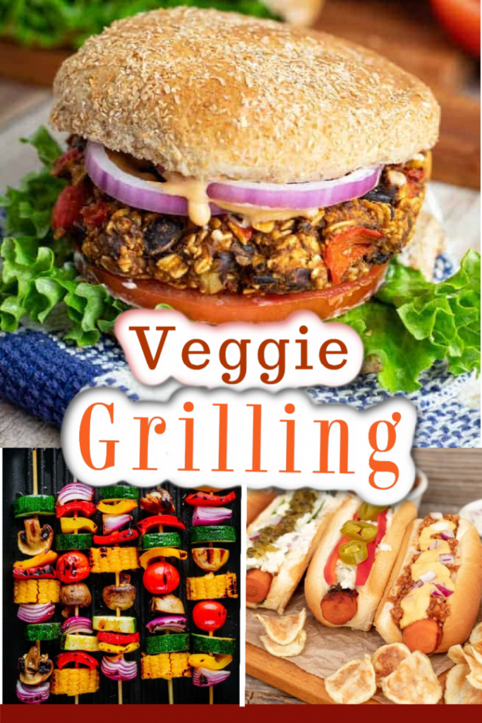 photo collage for grilled veggies