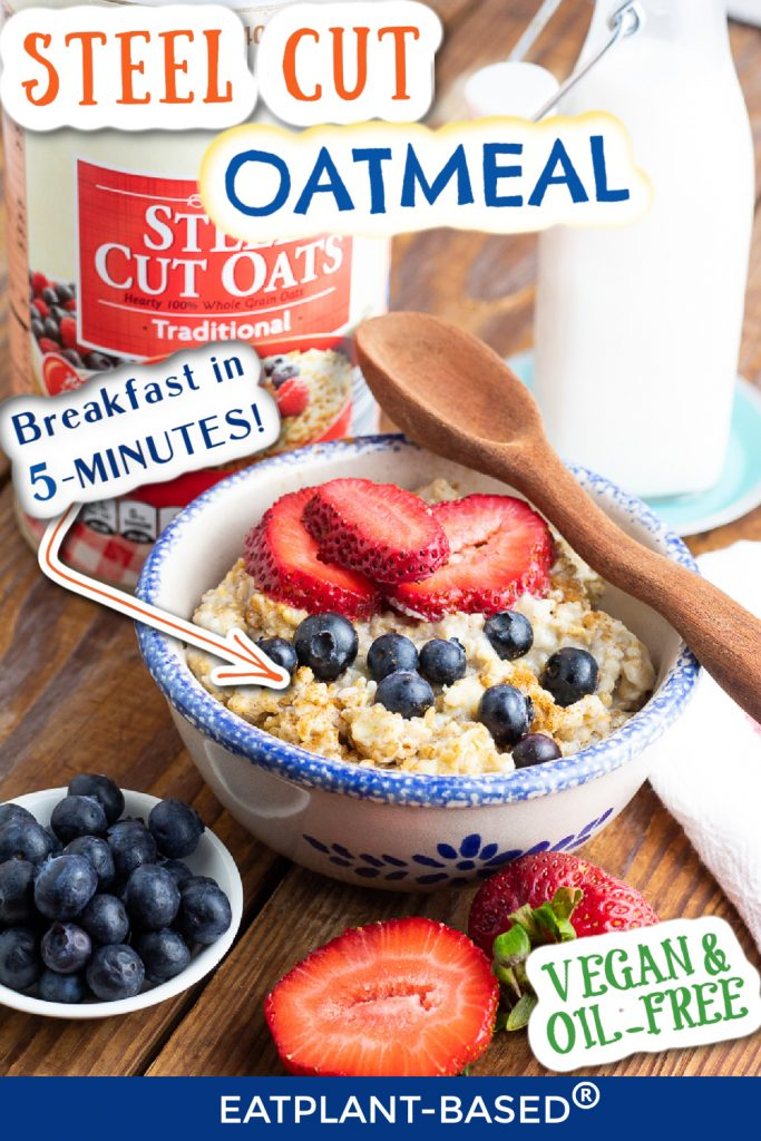 steel cut oats photo collage for pinterest
