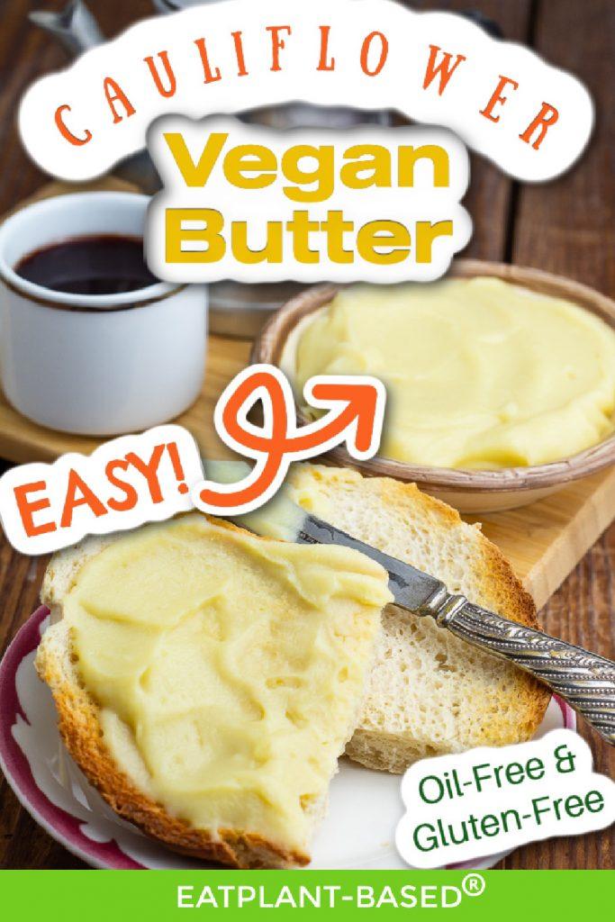 photo collage for vegan butter for pinterest