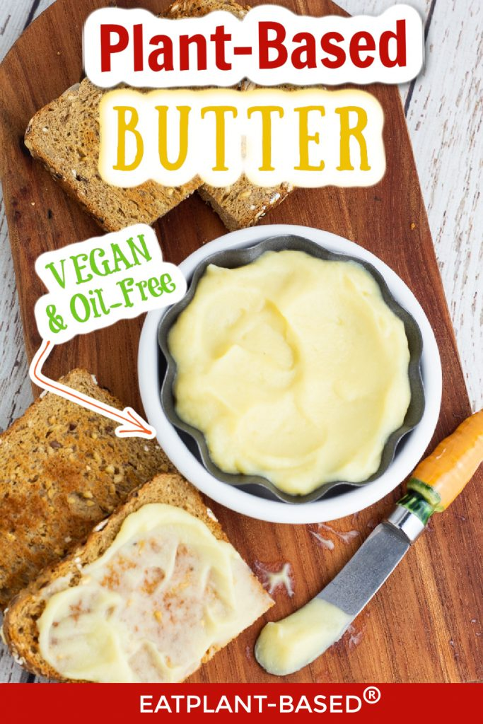 photo collage for plant based butter for pinterest