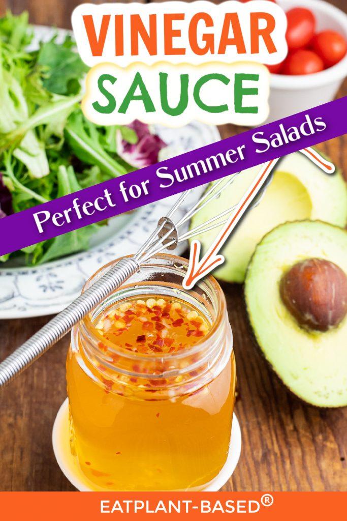 vinegar oil free salad dressing photo collage for pinterest