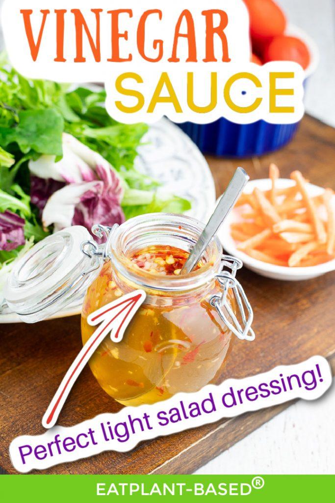 oil free vinegar dressing photo collage for pinterest