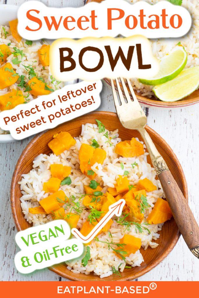 photo collage for sweet potato bowl for pinterest