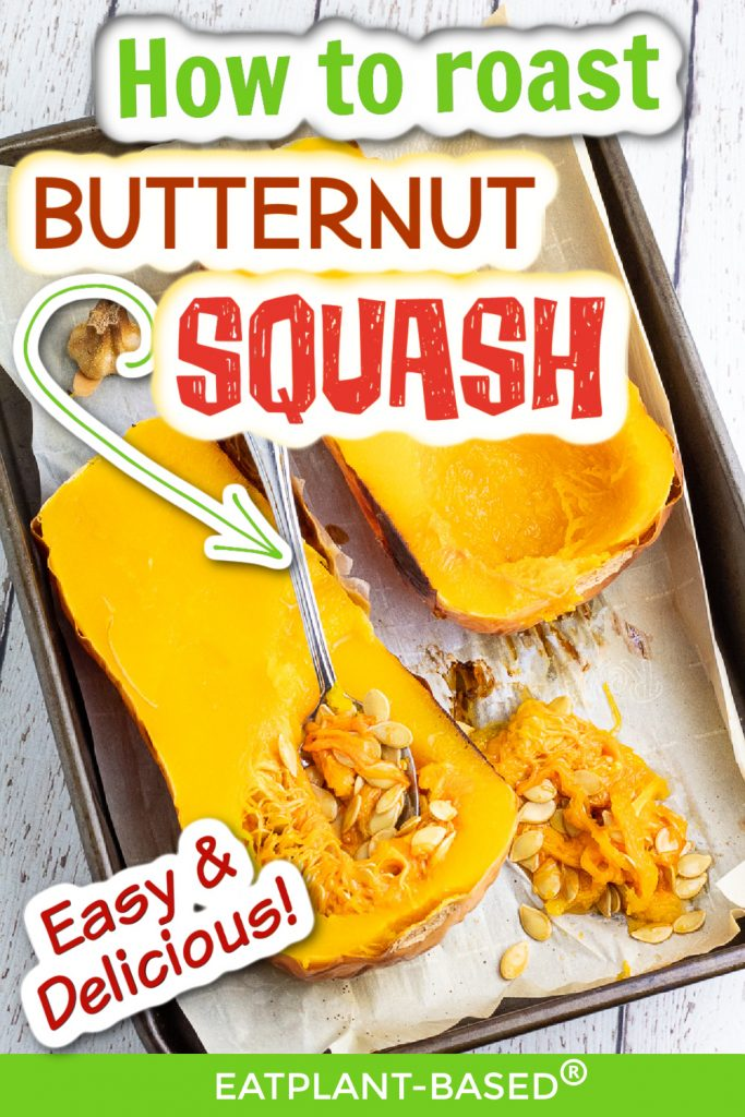 photo collage of butternut squash for pinterest