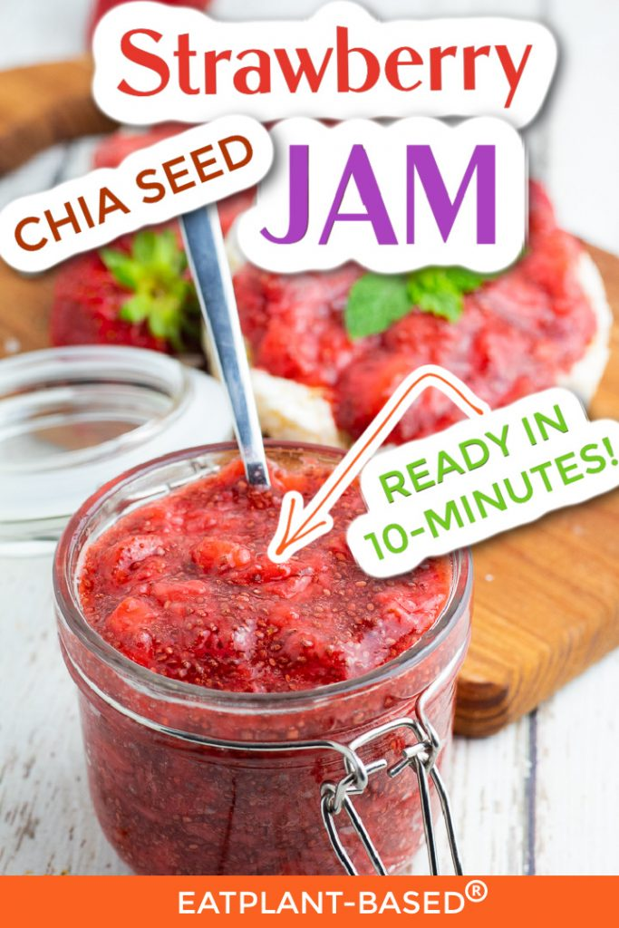 photo collage for strawberry chia seed jam for pinterest
