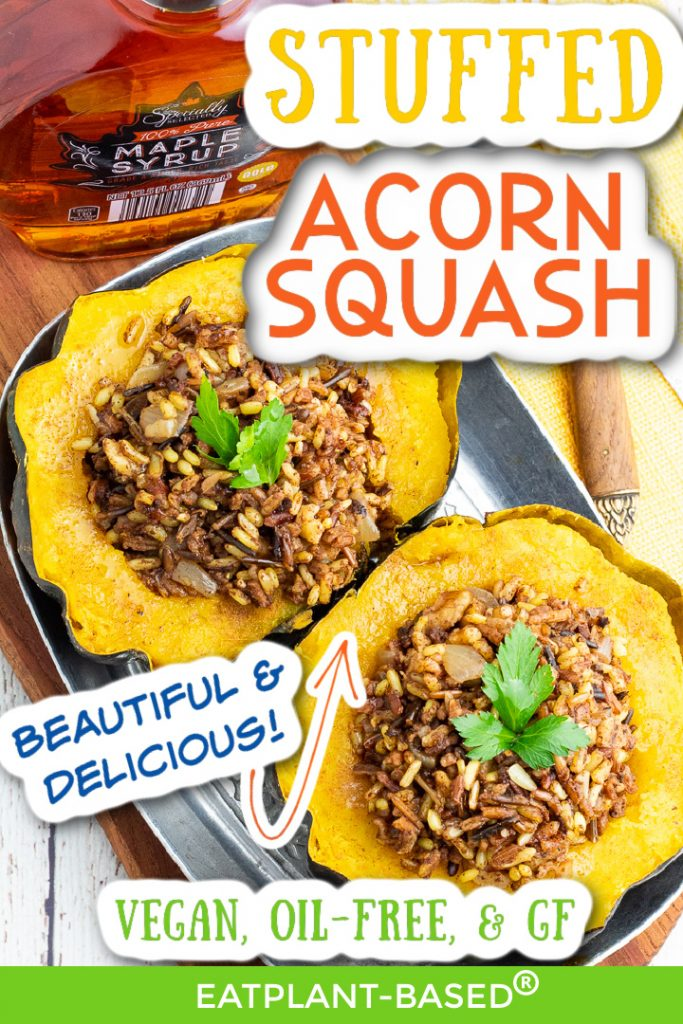 photo collage for stuffed acorn squash for pinterest