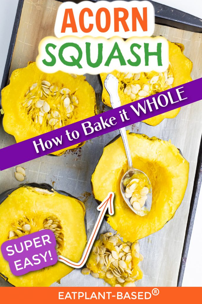 photo collage for how to cook whole acorn squash for pinterest