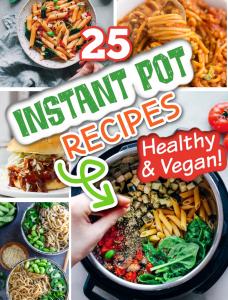 vegan instant pot photo collage feature image