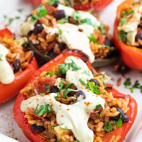 Mexican Stuffed Peppers (Vegan)