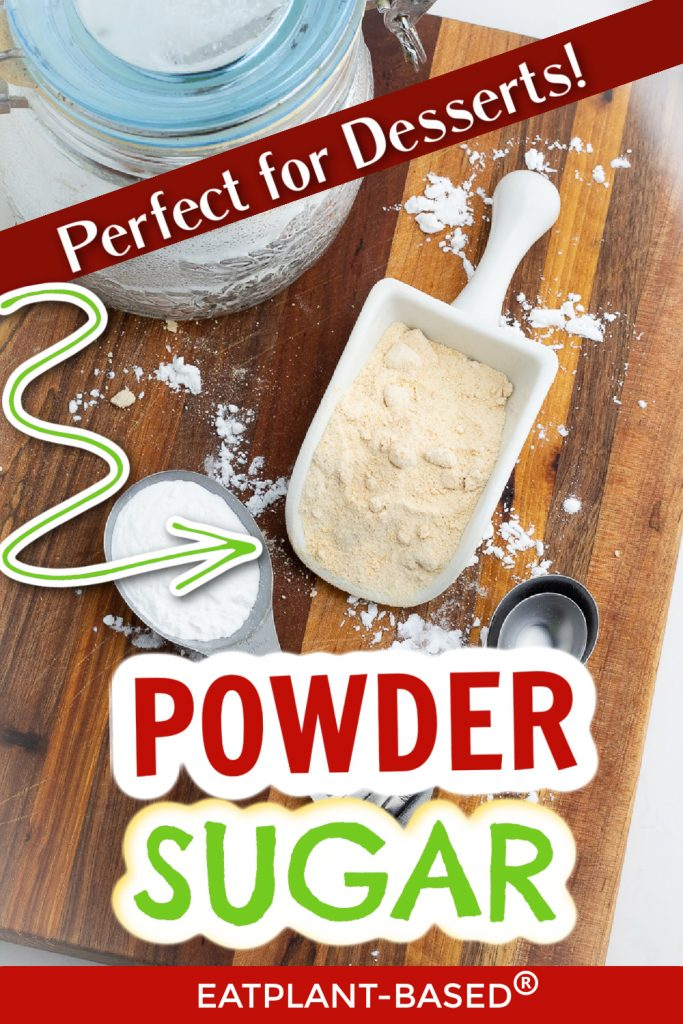 photo collage for how to make powder sugar