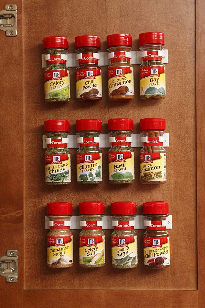 spice clips on cabinet door