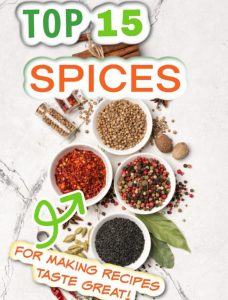 photo collage of spices for cooking healthy meals
