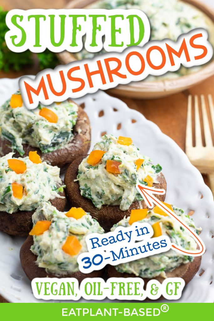 stuffed mushroom photo collage for pinterest