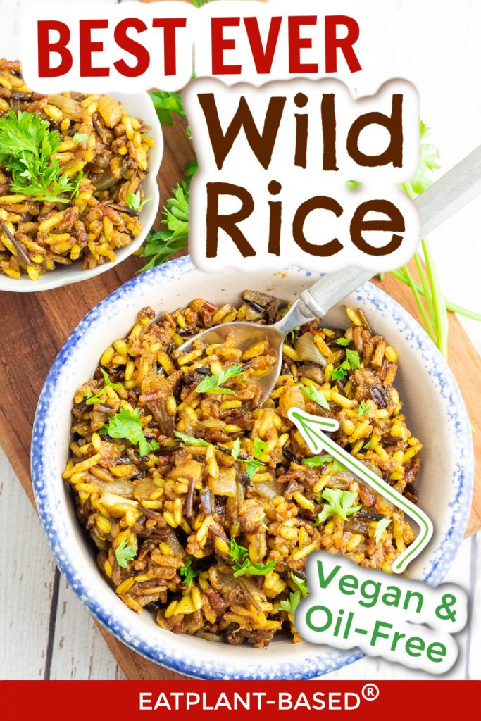 photo collage for wild rice recipe for pinterest