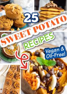 sweet potato vegan recipes photo collage