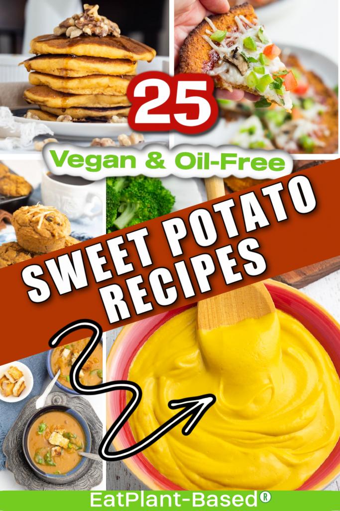 sweet potato photo collage for pinterest